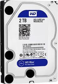 """WD Blue 2TB SATA3 64MB 3.5"""" 5400RPM 6Gb/s 64MB Cache HDD"""