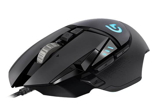Logitech G502 Proteus RGB Spectrum Tunable Gaming Mouse 12000 DPI On-The-Fly DPI Shifting 11 Programmable Buttons Dual Mode Personal Weight & Balance