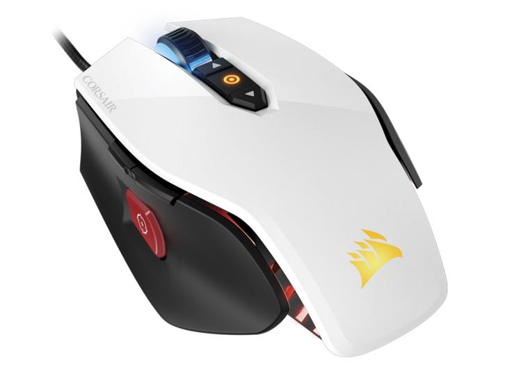 Corsair M65PRO White RGB FPS Gaming Mouse White Body 12000dpi 16.8M Color