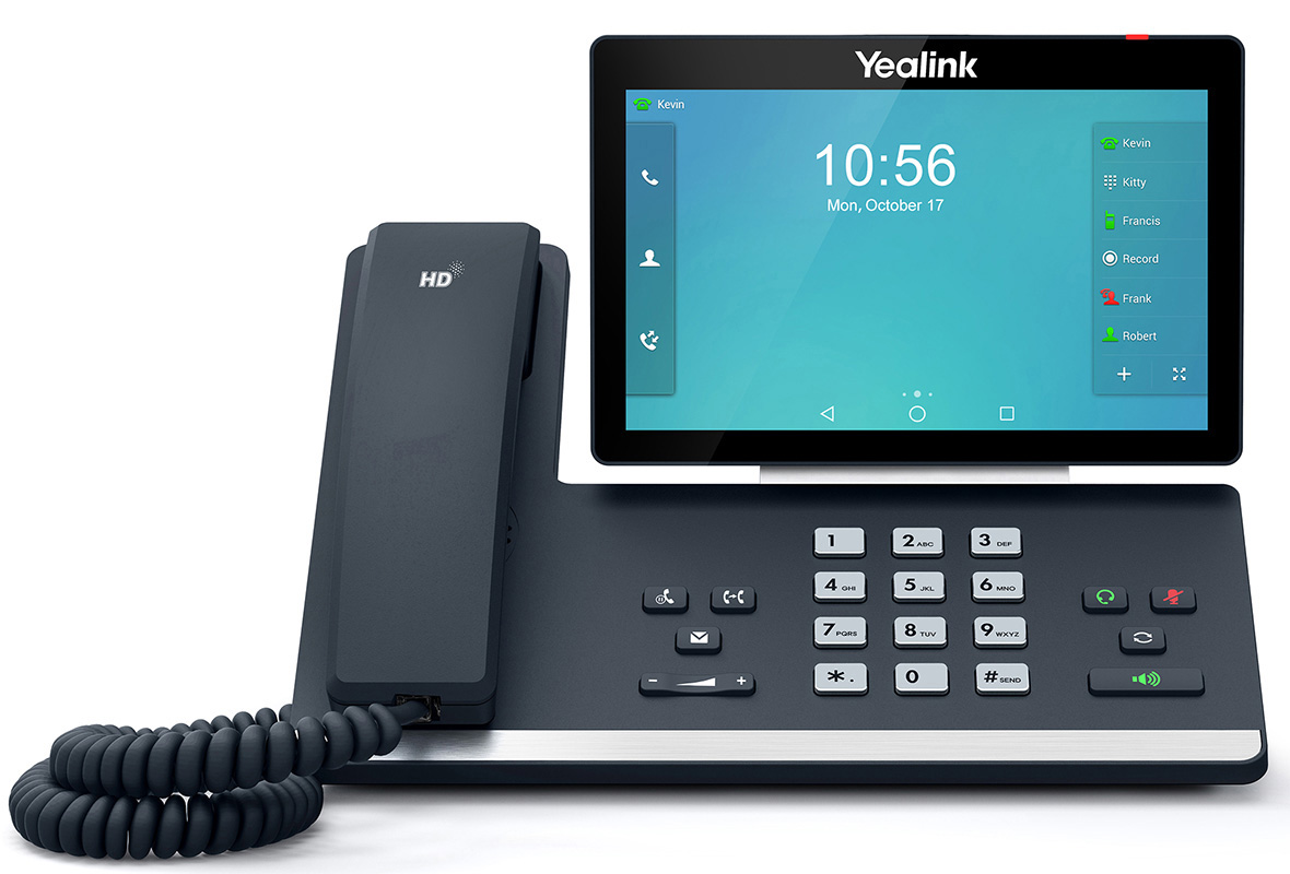 """Yealink T58A 16 Line IP HD Android Phone, 7"""" 1024 x 600 colour touch screen, HD voice, Dual Gig Ports, Built in Bluetooth and WiFi, USB 2.0 Port,"""
