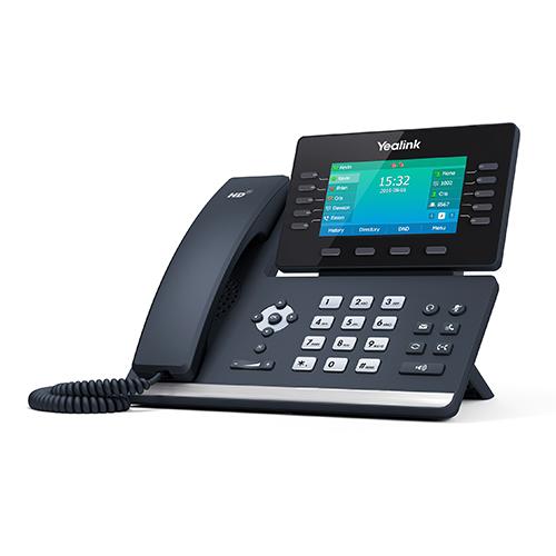 "Yealink T54S, 16 Line IP HD Phone, 4.3"" 480 x 272 colour screen, HD voice, Dual Gig Ports, Built in Bluetooth, WiFi via WF40, USB 2.0 Port (LS)"