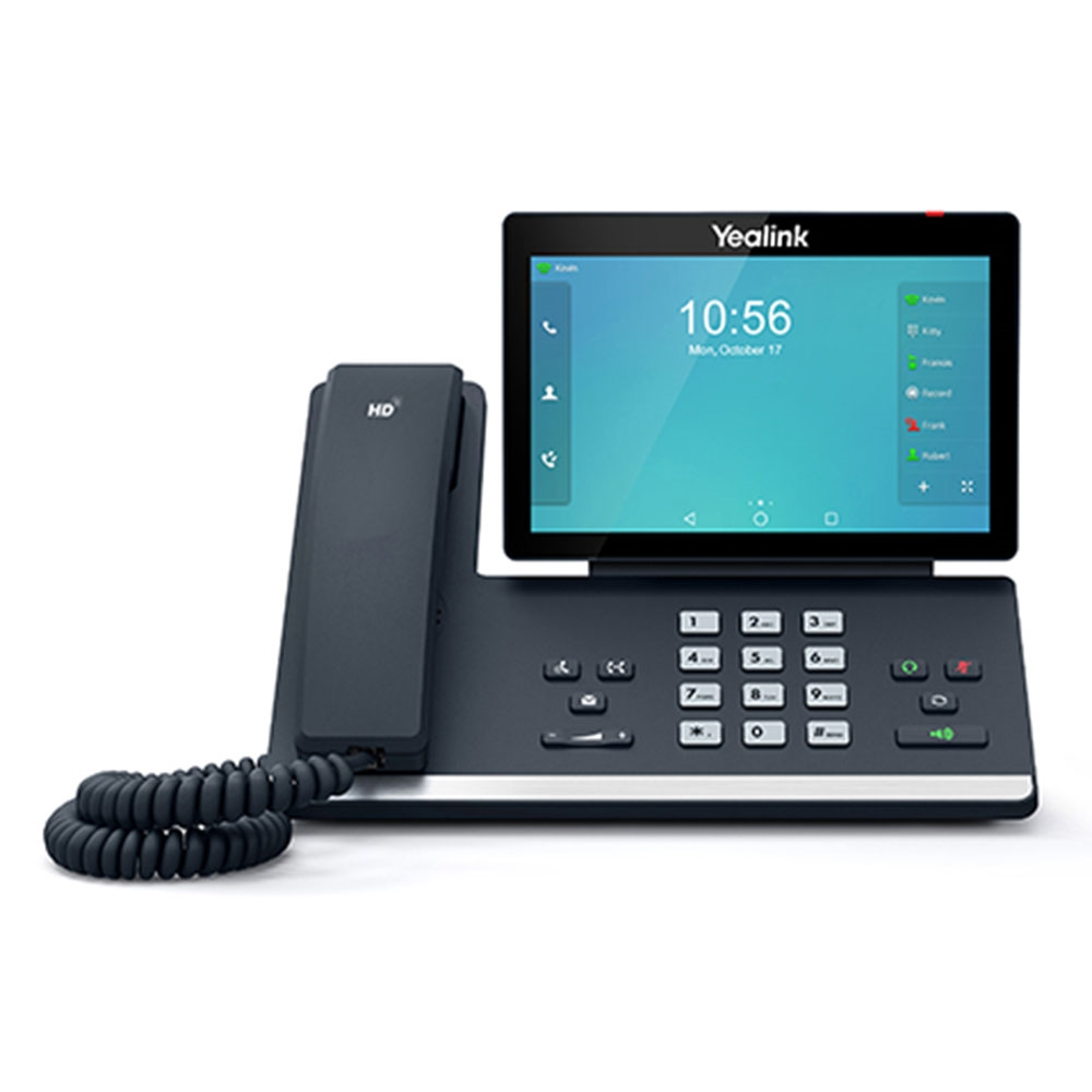 """Yealink T56A 16 Line IP HD Android Phone, 7"""" 1024 x 600 colour touch screen, HD voice, Dual Gig Ports, Built in Bluetooth and WiFi, USB 2.0 Port, No C"""