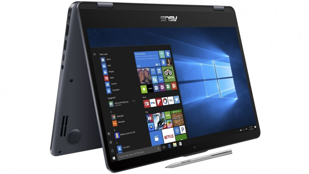 "ASUS Vivobook TP410 2-in-1 Flip Notebook 14"" FHD Touch Active Pen Intel i5-7200U 8GB DDR4 256GB SSD Windows 10 Home Illuminated Keyboard 1.6kg 19.2mm"