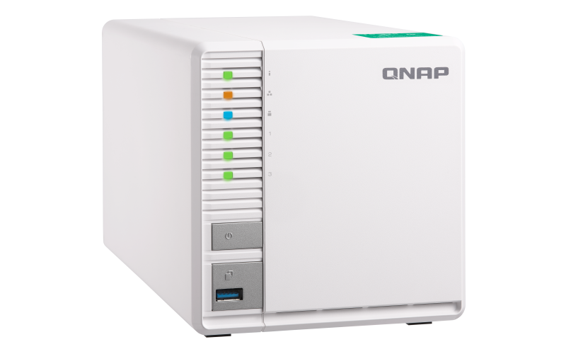 QNAP TS-328 2-Bay NAS ARM CortexA53 Quad-core 1.4GHz 2GB DDR4 4GB eMMC 2xRJ45 2xUSB3.0 Hot-swappable Tower 2yrs Warranty