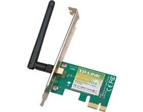 TP-Link TL-WN781ND N150 Wireless N PCI Express Adapter 2.4GHz (150Mbps) 802.11bgn 1x2dBi Detachable Omni Directional Antennas WPA/WPA2