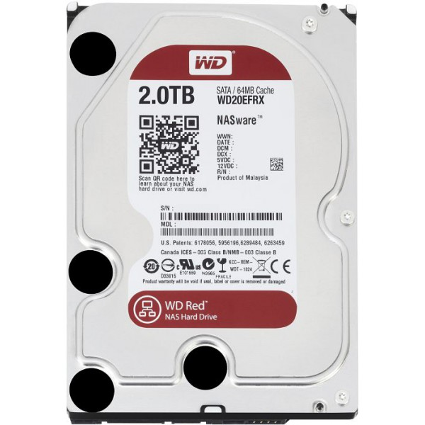"WD Red 2TB NAS 64MB 3.5"" 5400RPM SATA3 6Gb/s 64MB Cache"