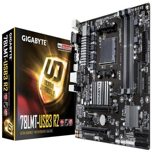Gigabyte GA-78LMT-USB3 mATX MB AM3+ 4xDDR3 VGA DVI GbE LAN PCIEx16 6xSATA3 8xUSB2 ~GA-970A-D3P