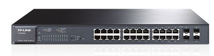 TP-Link T1600G-28PS (TL-SG2424P) JetStream 24-Port Gigabit L2+ Smart Switch 192W PoE+ with 4 SFP Slots 56Gbps Bandwidth 41.7Mpps Packet Forward Rate
