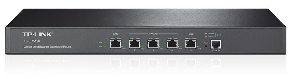TP-Link TL-ER5120 Gigabit Multi-WAN Load Balance Router 5-port 1 LAN 3 WAN/LAN Ports 1 gigabit LAN/DMZ port Supports PPPoE Server