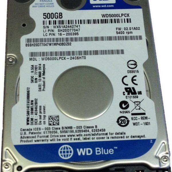 """WD Blue 500GB SATA3 7mm 2.5"""" 5400RPM 6Gb/s 16MB Cache"""