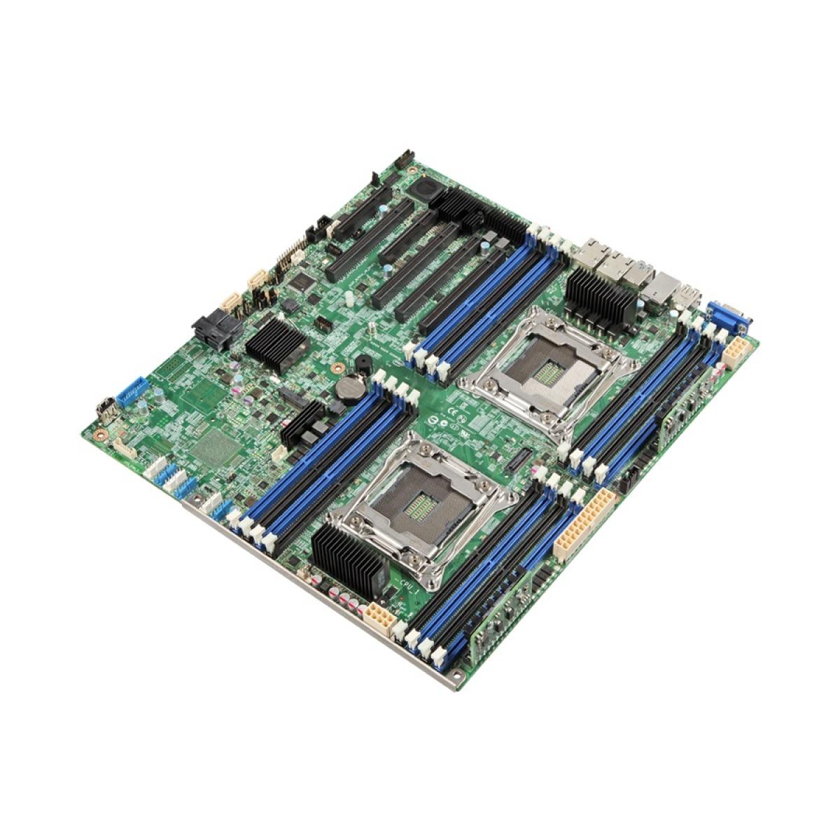 INTEL S2600CW2R Server Motherboard, Dual 2011, C612, 16xDIMM, 2xGbE, PCIe x16, SSI EEB