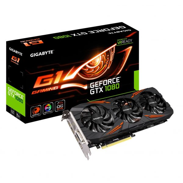 Gigabyte nVidia GeForce GTX 1060 G1 Gaming 6GB PCIe Video Card 7680x4320 @ 60Hz 3xDP HDMI DVI VR Ready 1683/1506 MHz ~GV-N1060AORUS-6GD
