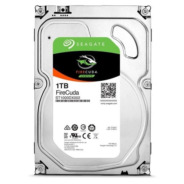 "Seagate 1TB FIRECUDA SSHD 3.5"" 7200RPM SATA3 6Gb/s 64MB Hybrid HDD"