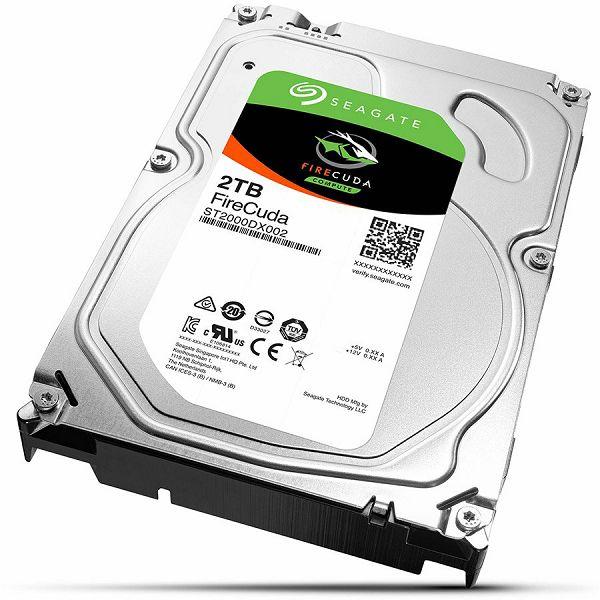 "Seagate 2TB FIRECUDA SSHD 3.5"" 7200RPM SATA3 6Gb/s 64MB Hybrid HDD"