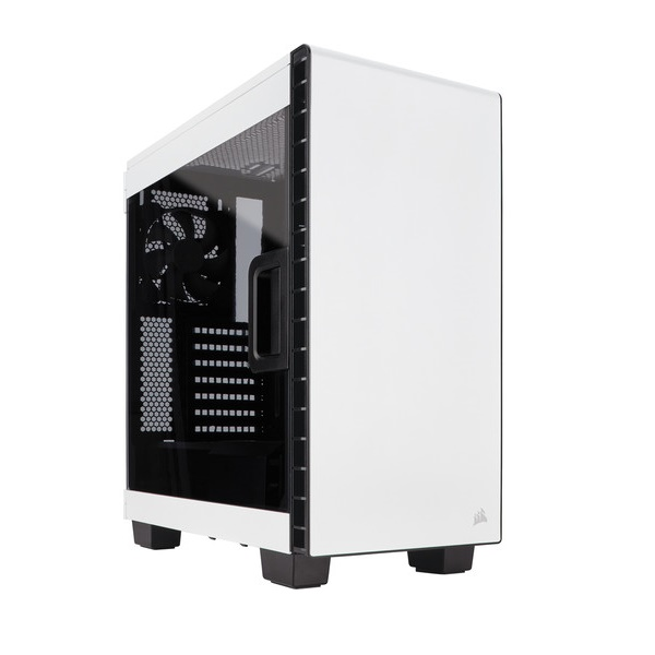 Corsair 400C White Window Mid-Tower Mini-ITX, MicroATX, ATX, E-ATX, ATX Case No ODD Slot. Supports