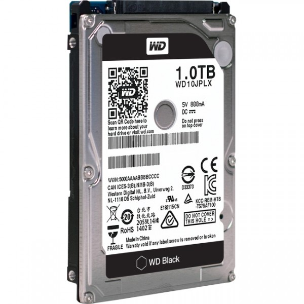 "WD Black 1TB SATA3 9.5mm 2.5"" 7200RPM 6Gb/s 32MB Cache"