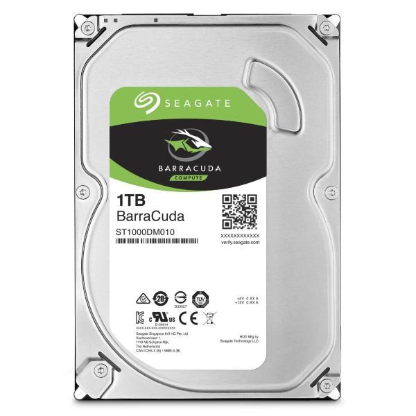 "Seagate 1TB Barracuda 3.5"" 7200RPM SATA3 6Gb/s 64MB Cache HDD"