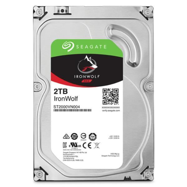 "Seagate 2TB IronWolf NAS 3.5"" 5900RPM SATA3 6Gb/s 64MB HDD. 3 Years Warranty"
