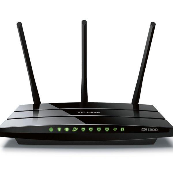 TP-Link Archer C1200 AC1200 1200Mbps Wireless Dual Band Gigabit Router 2.4GHz@300Mbps 5GHz@867Mbps 4x1Gbps LAN WAN USB 3xAntennas ~ARCHER C2 C59 C50