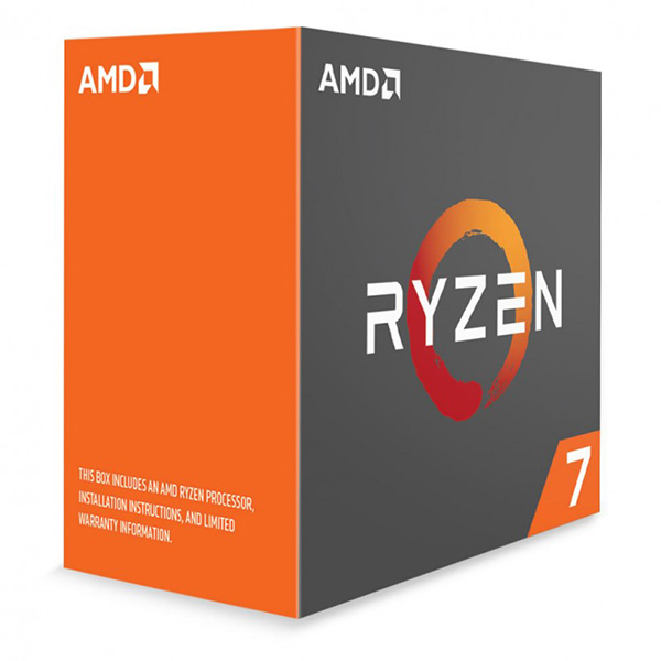 AMD Ryzen 7 1700X CPU 8 Core Unlocked 3.4GHz Base Speed with Turbo Speed 3.8GHz AM4 95w 16MB L3 cache Boxed 3 Years Warranty - No Fan (LS)