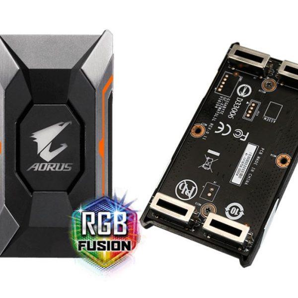 Gigabyte GC-A2WAYSLIL RGB AORUS SLI HB bridge RGB 4K+ 8cm 2 slot spacing for nVidia GTX 10 series graphic cards Dual Link SLI HB