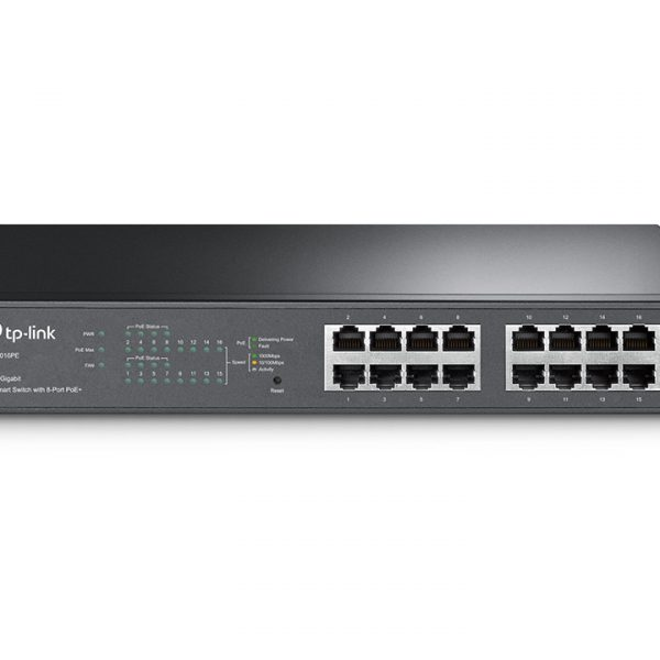 TP-Link TL-SG1016PE 16-Port Gigabit Desktop/Rackmount Switch with 8-Port PoE+ 32Gbps IEEE 802.3af/at Priority Function Mac Address Auto-Learning