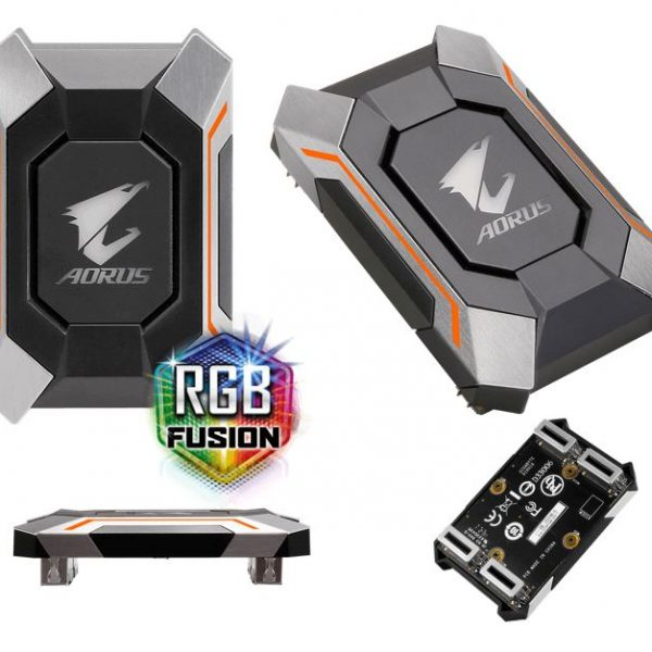 Gigabyte GC-A2WAYSLI RGB AORUS SLI HB bridge 4K+ RGB 8cm 1 slot spacing for nVidia GTX 10 series graphic cards Dual Link SLI HB