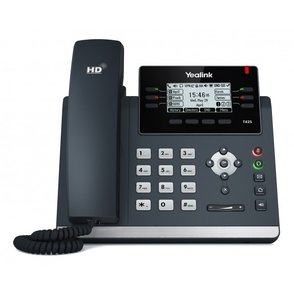 Yealink T42S 3 Line Mono IP Phone 2xGbE/Greyscale/PoE Support