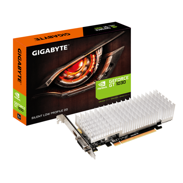 Gigabyte nVidia GeForce GT 1030 2GB DDR5 Silent PCIe Video Card 4K@60Hz HDMI DVI 2x Displays Low Profile 1506/1468 MHz ~VCG-N1030D5-2GL GV-N1030D5-2GL