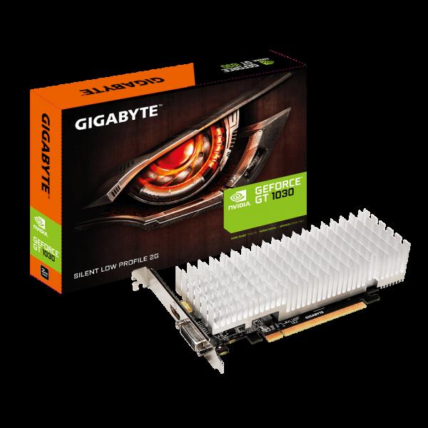 Gigabyte nVidia GeForce GT 1030 2GB DDR5 Silent PCIe Video Card 4K@60Hz HDMI DVI 2x Displays Low Profile 1506/1468 MHz ~VCG-N1030D5-2GL GV-N1030D5-2GL