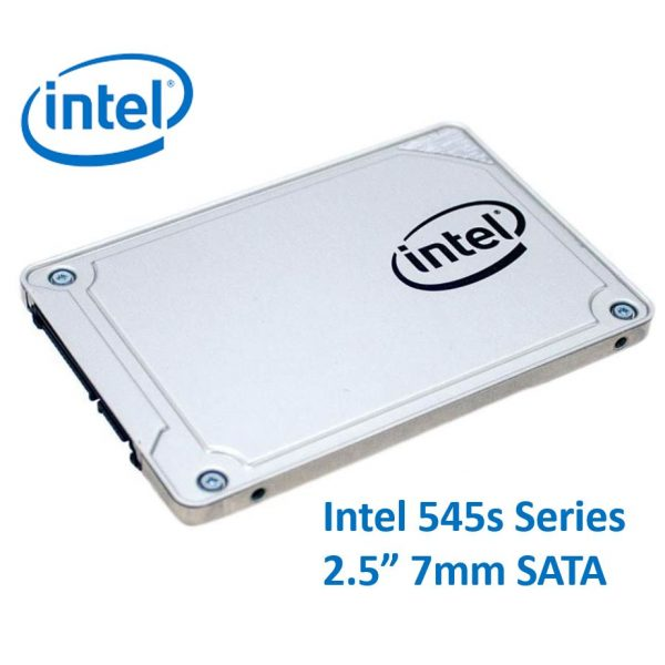 "Intel 545s Series 2.5"" 256GB SSD SATA3 6Gbps 550/500MB/s 7mm TCL 3D NAND 75K/85K IOPS 1.6 Million Hours MTBF Solid State Drive 5yrs Wty"