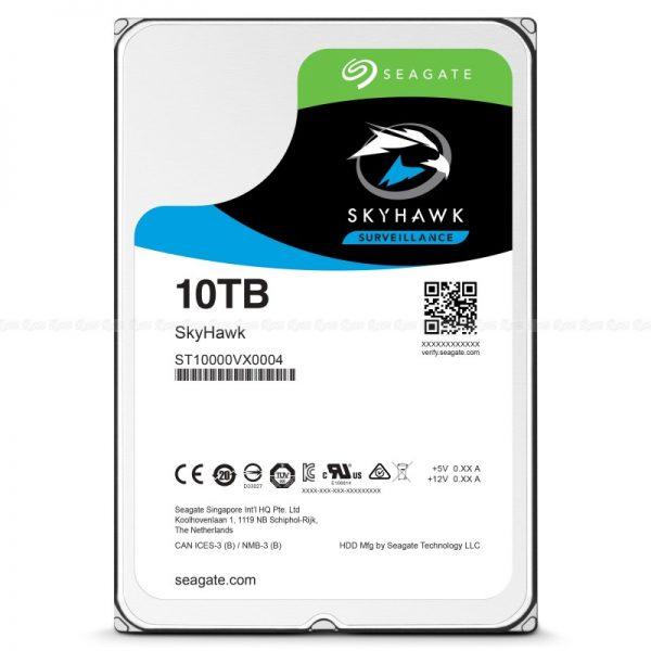 "Seagate 10TB SkyHawk Surveillance 3.5"" SATA3 6Gb/s 256MB Cache 24x7 HDD ST10000VX0004"