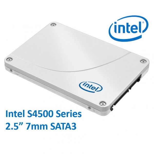 "Intel DC S4500 2.5"" 240GB SSD SATA3 6Gbps 7mm 500/190MB/s 69K/16K IOPS 1 DWPD 2 Million Hours MTBF Data Center Server Solid State Drive 5yrs Wty"