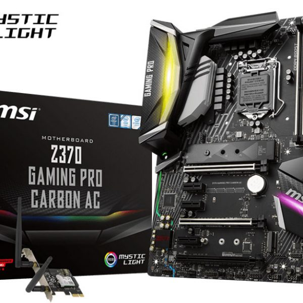 MSI Z370 GAMING PRO CARBON AC ATX Motherboard - S1151 8Gen 4xDDR4 3xPCI-E DP/HDMI 2xM.2 TypeC SLI/CF TPM ~Z370 GAMING M5