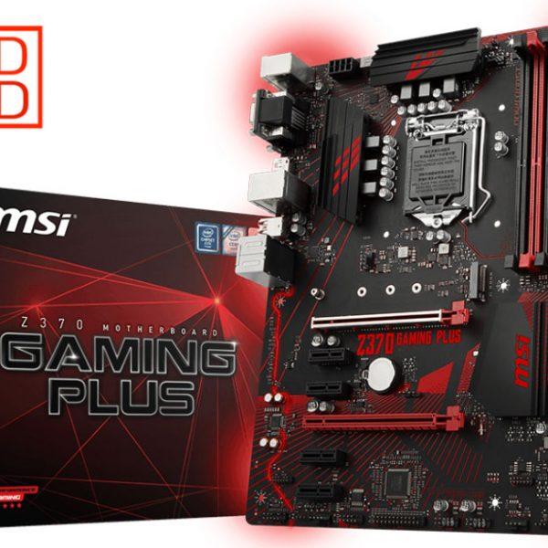 MSI Z370 GAMING PLUS ATX Motherboard - S1151 8Gen 4xDDR4 2xPCI-E DP/DVI/VGA 1xM.2 CF