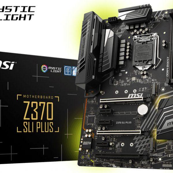 MSI Z370 SLI PLUS ATX Motherboard - S1151 8Gen 4xDDR4 3xPCI-E HDMI/DVI 2xM.2 TypeC SLI/CF TPM