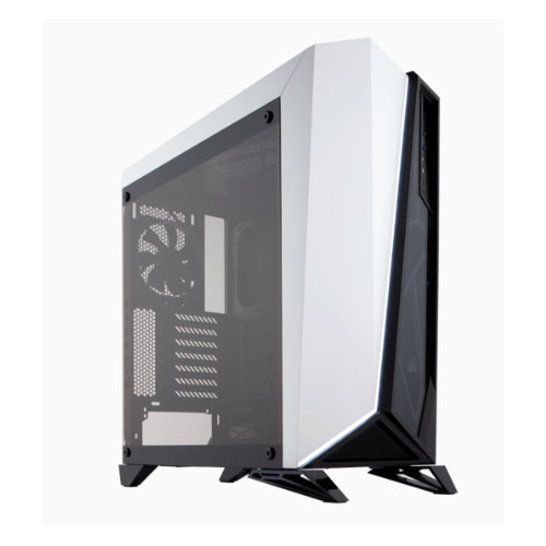 Corsair Carbide SPEC-OMEGA Mid-Tower Tempered Glass Gaming Case, Black and White