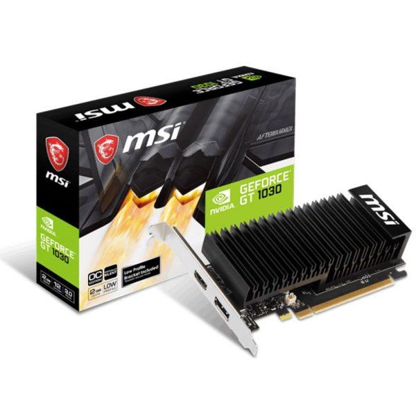 MSI NVIDIA GT 1030 2GHD4 LP OC Low Profile Video Card - GDDR5 DP/HDMI 1265/1518MHz