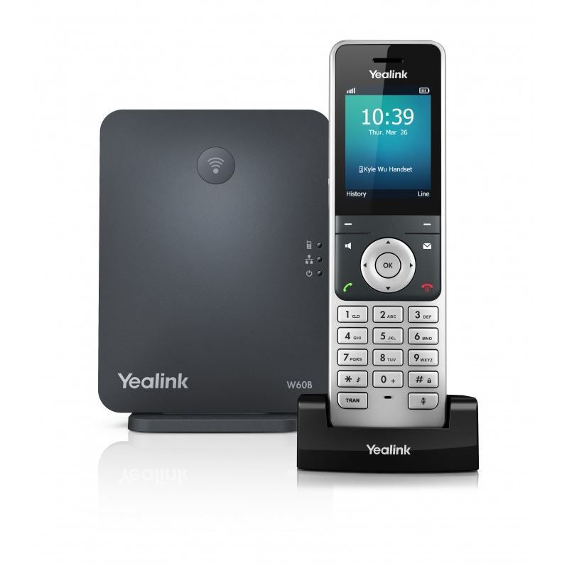 Yealink W60P Wireless DECT Solution including Base Station and 1 Handset