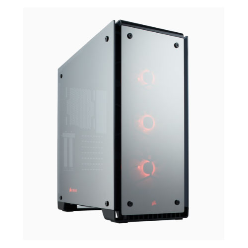 Corsair 570X RGB Mirror Black, Tempered Glass Crystal Series. 3x 120mm RGB LED Fan, ATX Gaming Case.