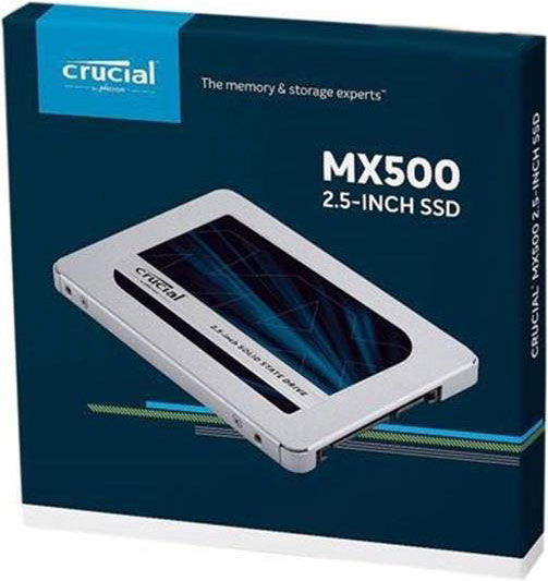 "Crucial MX500 500GB 2.5"" SATA SSD - 3D TLC 560/510 MB/s 90/95K IOPS 7mm w/9.5mm Adapter"