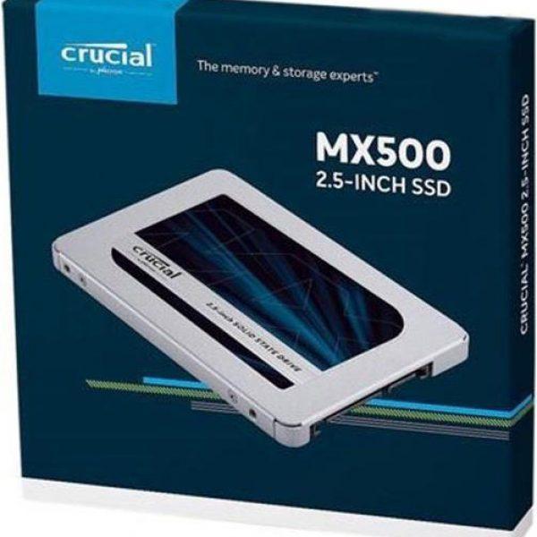"""Crucial MX500 1TB 2.5"""" SATA SSD - 3D TLC 560/510 MB/s 90/95K IOPS 7mm w/9.5mm Adapter"""