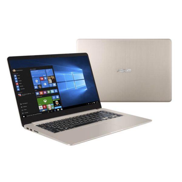 """ASUS Vivobook Slim K410UA Notebook, Intel i5-8250U, 8GB DDR4, 256GB M.2 SSD, 14.0"""" FHD, Windows 10 Professional, 1 Year Warranty, Gold"""