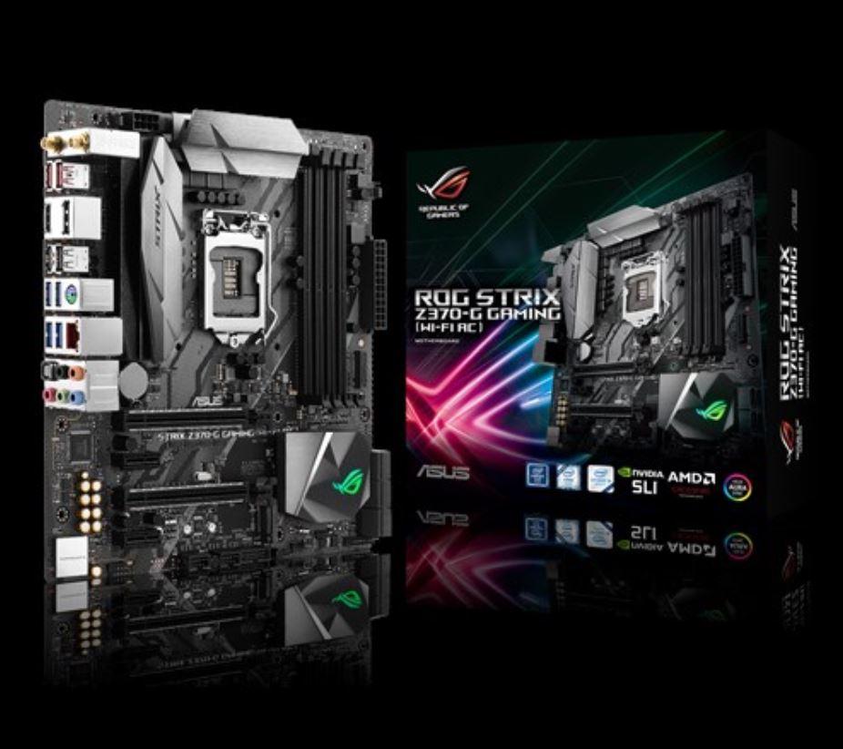 Asus ROG STRIX Z370-G GAMING S1151 mATX MB 4xDDR4 4xPCIe 1xM.2, 6xSATA, RAID, 5XUSB3.1, 1xUSB Type-C, 1xHDMI, 1xDP