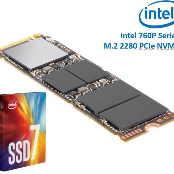 Intel 760P Series M.2 80mm 256GB SSD 3D2 TLC PCIe NVMe 3210/1315MB/s 205K/265K IOPS 1.6 Million Hours MTBF Solid State Drive 5yrs Wty ~HBI-600P-256GB