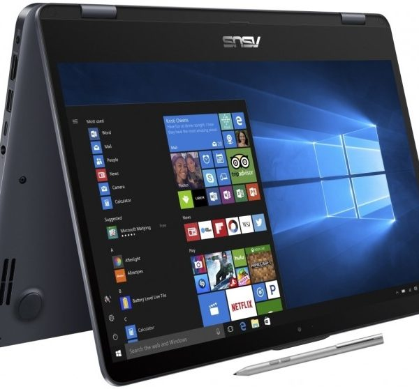 """ASUS Vivobook TP410 2-in-1 Flip Notebook 14"""" FHD Touch Active Pen Intel i5-7200U 8GB DDR4 256GB SSD Windows 10 Home Illuminated Keyboard 1.6kg 19.2mm"""