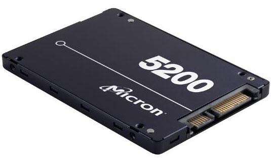 """Micron 5200 ECO 480GB 2.5"""" SATA TCG Enabled Enterprise Solid State Drive in Bulk - Target Workloads & Read-Intensive Applications"""