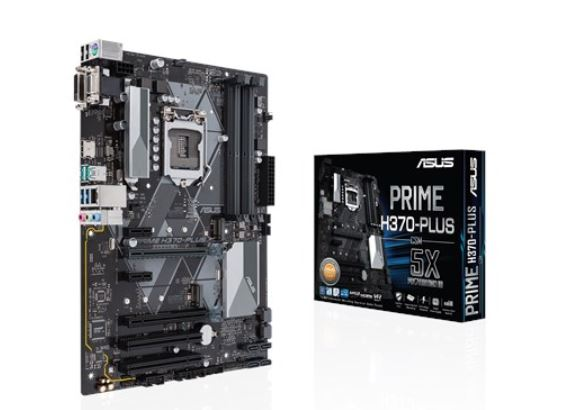 Asus PRIME H370-PLUS/CSM S1151 ATX MB, 4xDDR4, 6xPCIe, 1xM.2, RAID, 4xUSB3.1, 2xUSB2.0, 1xD-Sub, 1xDVI, 1xHDMI