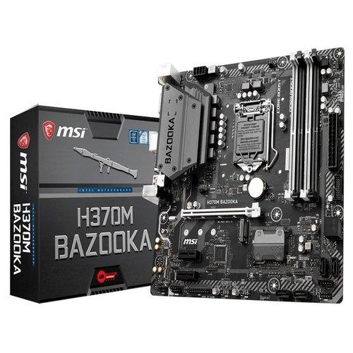 MSI H370M BAZOOKA mATX Motherboard - S1151 8Gen 4xDDR4 3xPCI-E, 2xM.2, 4xUSB3.1, 2xUSB2.0, 1xDP, 1xHDMI, 1xDVI