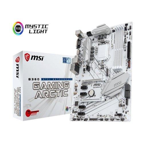 MSI B360 GAMING ARCTIC ATX GAMING Motherboard - S1151 8Gen 4xDDR4 6xPCI-E, 1xM.2, 4xUSB3.1, 2xUSB2.0, 1xDP, 1xDVI